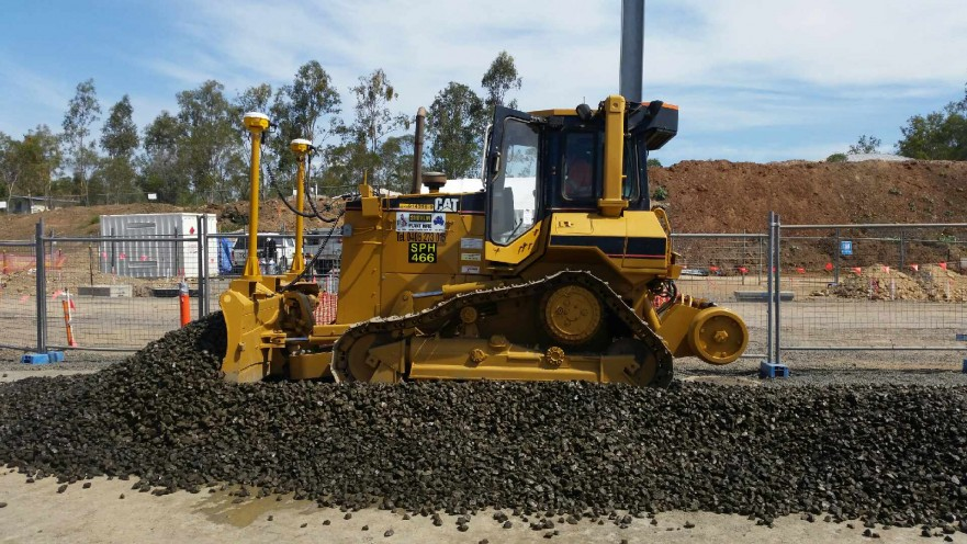 GPS controlled CAT D5M XL hi-rail dozer