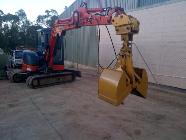 ZX50 mini digger and stantion base Grab