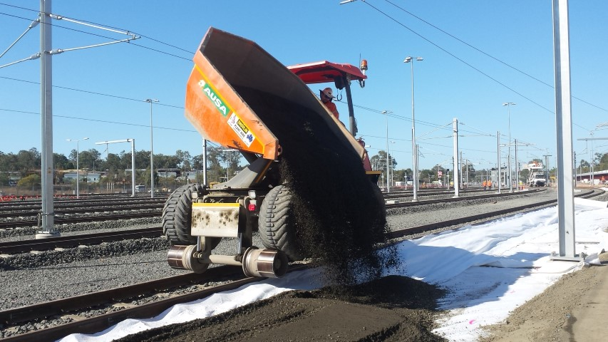 ausa 10 ton hi rail dumper