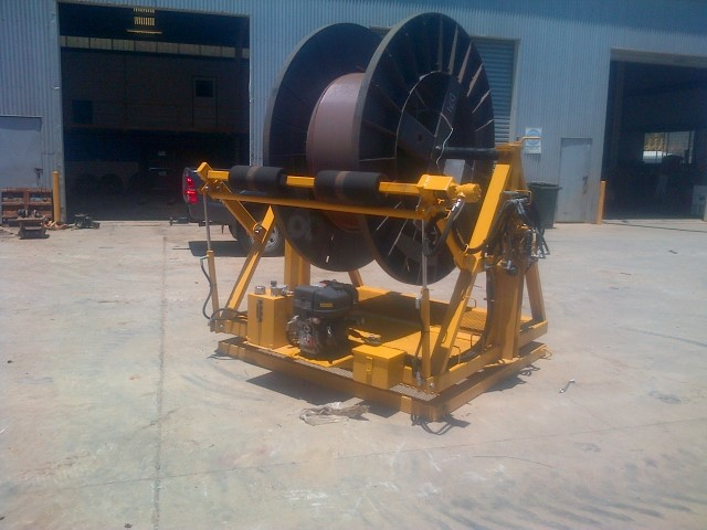 powered cable drum 7 ton